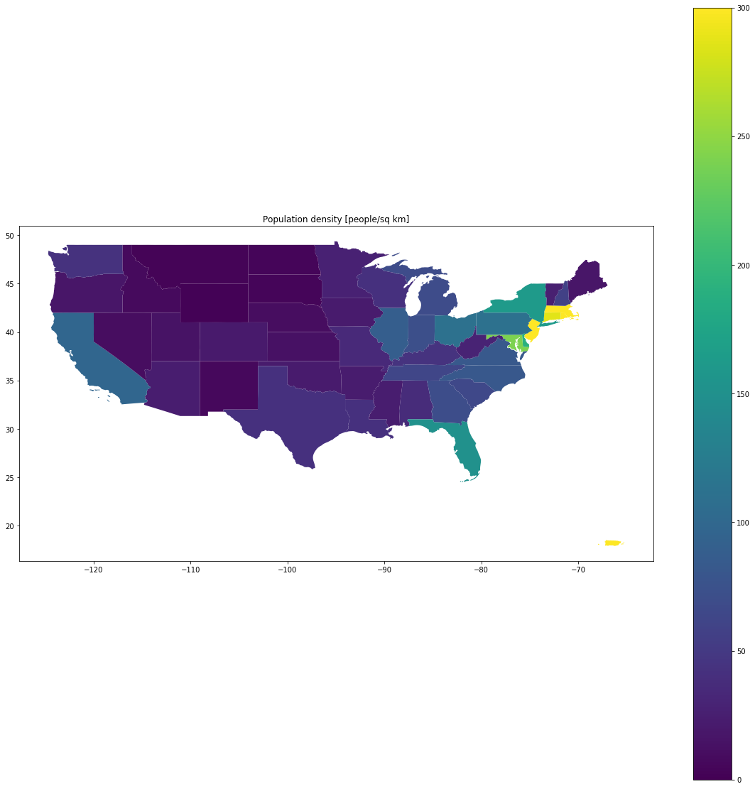population density chloropleth map