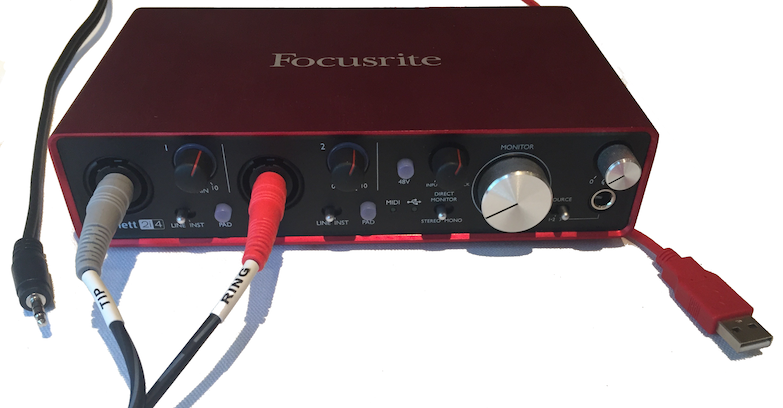 Audio Interface, Focusrite Scarlett 2i4
