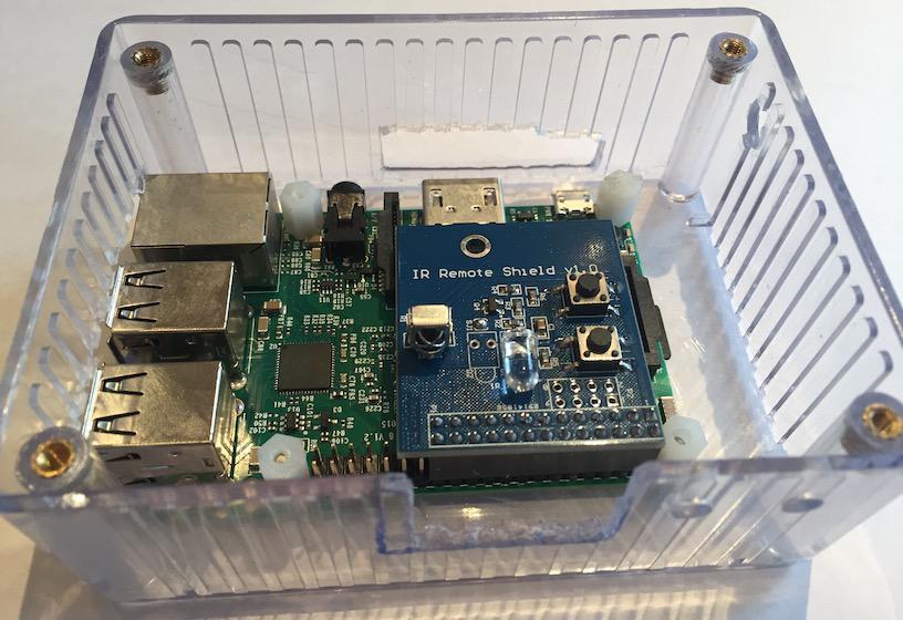 Pi IR remote shield